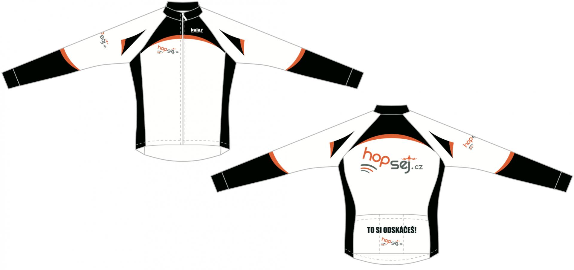 Cyklistický dres dlouhý rukáv