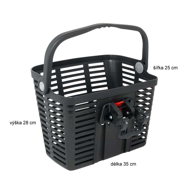 Košík na řidítka plastový